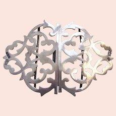 Art Nouveau sterling silver nurses belt buckle Sheffield 1916