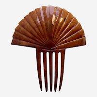 Art Deco hair comb faux tortoiseshell sunray style hair accessory