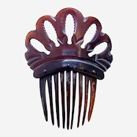 Victorian steer horn hair comb Spanish mantilla style hair ornament