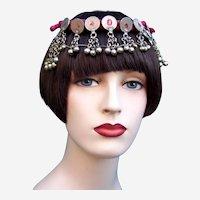 Oriental Egyptian revival style headdress with coins Art Deco headpiece