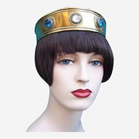 An unusual medieval style headdress suitable for LARP, pageants or wedding