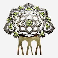 Hair comb Spanish style with enamel decoration hair ornament