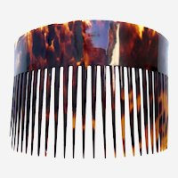 Early American tortoiseshell hair comb classic hair ornament