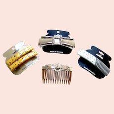 Four Karina hair accessories good quality 1980s hair ornaments (AAA)