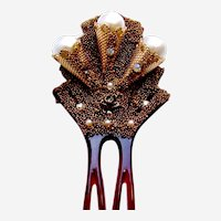 Mid century hair comb Hollywood Regency design hair ornament