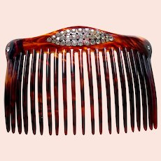 Late Victorian hair comb rhinestone back comb hair ornament