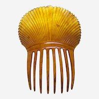 Victorian steer horn hair comb Spanish style headpiece