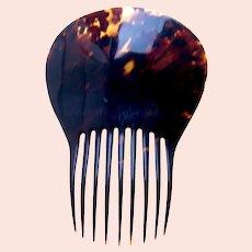 Victorian natural tortoiseshell hair comb Spanish mantilla style