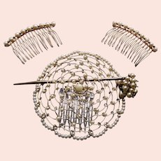 Unusual faux pearl hair ornament dating from the 1980s