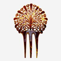 Art Deco hair comb parti coloured hair ornament