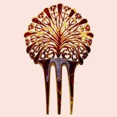 Art Deco hair comb parti coloured hair ornament