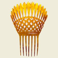 Victorian hair comb steer horn Spanish style hair ornament