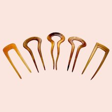 Five practical hair combs hair pin accessories in assorted materials