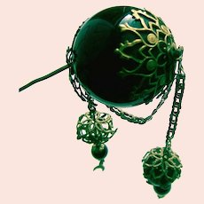 Early Victorian Moorish style hairpin or hatpin ornament