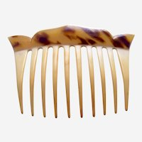 Art Deco hair comb parti colour celluloid hair ornament