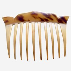 Art Deco hair comb parti colour celluloid hair ornament
