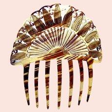 Art Deco Spanish style faux tortoiseshell hair comb
