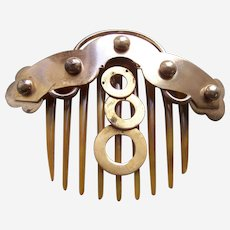 Classic mid Victorian hinged comb in Moorish style as found
