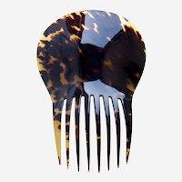 Spanish style hair comb natural tortoiseshell hair ornament