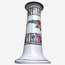 Edwardian hatpin holder Art Nouveau floral style