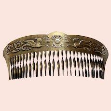 Art Deco bandeau hair comb oriental revival hair accessory