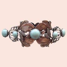 Piel Frères Art Nouveau tiara or hair comb mount ornament