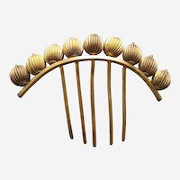 Victorian hair comb with ornamental metal balls hair accessory
