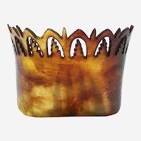 Late Victorian steer horn tiara hair comb hair accessory as found