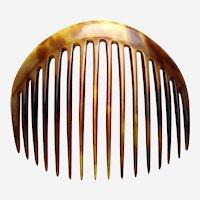 Victorian classic hair comb steer horn hair ornament
