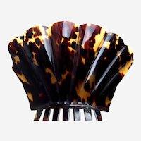 Regency period pressed tortoiseshell Spanish style comb as found