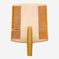 Miniature double sided hair or moustache comb vanity comb