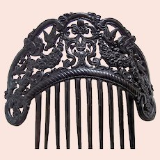 Victorian pierced hair comb Spanish style headpiece ornament