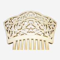 Large Spanish style hair comb in French ivory hair accessory