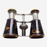 Antique Opera Glasses steel with Faux Tortoiseshell Effect (ABR)