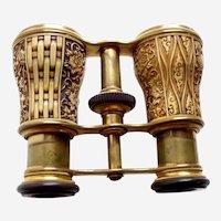 Antique Opera Glasses Brass Moulded Composition Lemaire of Paris (ABB)