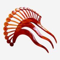 Asymmetric design hair comb Art Deco celluloid hair ornament