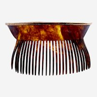 Late Victorian back combs faux tortoiseshell hair accessory