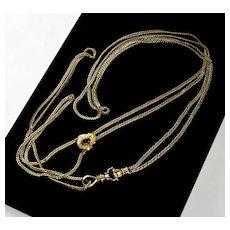Antique Georgian 14K Gold Hand Fist Guard Chain C. 1800s