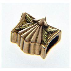 Antique Georgian 14K Fancy Slide Charm For Bracelet 001907