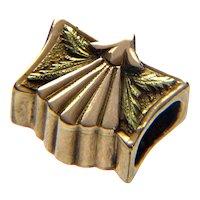 Antique Georgian 14K Fancy Slide Charm For Bracelet 001907