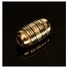 Antique Victorian 14K Enamel Slide Charm For Bracelet 001941