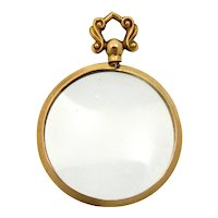 Antique Edwardian 9K Rose Gold Locket Pendant
