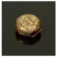 Antique Victorian 14K Enamel Slide Charm For Bracelet 002067
