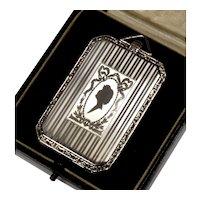 Antique Art Deco Sterling 4-picture Locket Pendant Signed J.M.F 002101