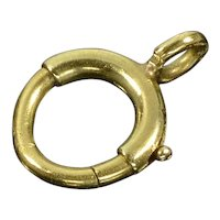 Antique Victorian 14K Gold Bolt Clasp 0114