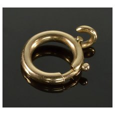 Antique Victorian 14K Rose Gold Bolt Clasp 0128