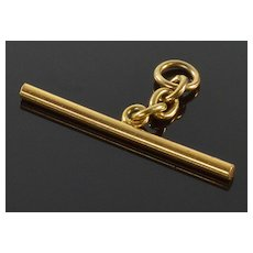 Antique Victorian 14K Gold T-Bar For Watch Chain / Necklace