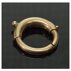 Antique Victorian 14K Rose Gold Connector Ring Clasp 0133