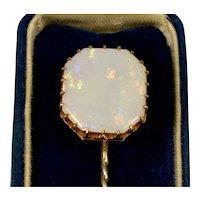 Antique Victorian Australian Opal 14K Stick Pin Tie Pin C.1890