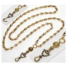 Antique Georgian/Victorian 10K Gold Hand Fist Chain Necklace